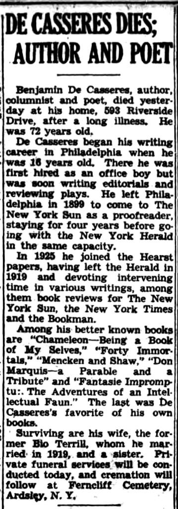 New York Sun, 1945