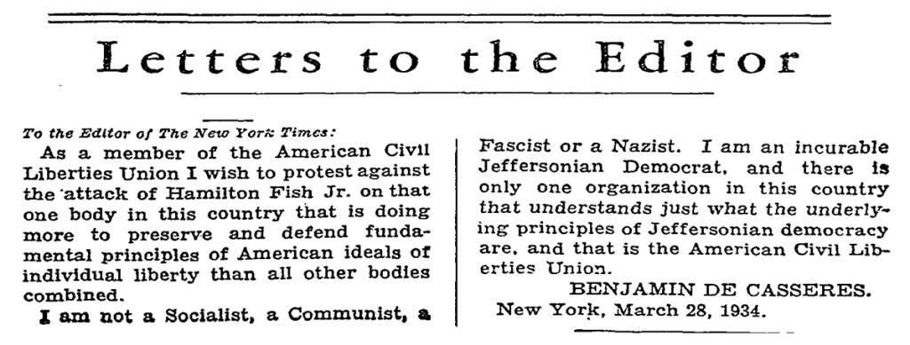 ACLU-LetterToTheNYT-1934-03-30